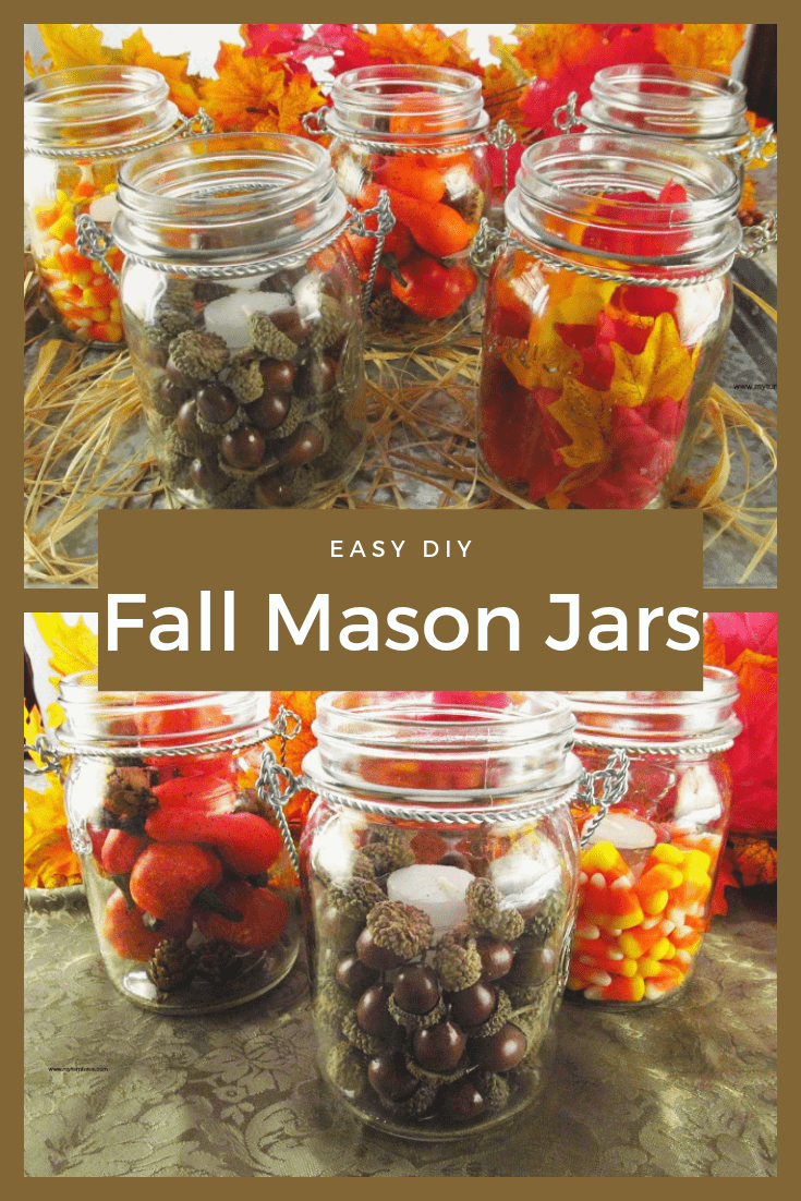 Fall Mason Jar Decor, Fall Themed Mason Jars, Mason Jar Fall Crafts,Mason Jar Fall Decor