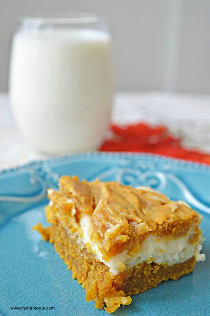 Swirl Cheesecake Bars, Pumpkin Cream Cheese Bars