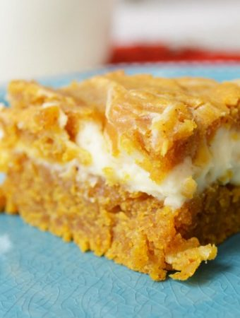 How to make Swirled Easy Pumpkin Cheesecake Bars