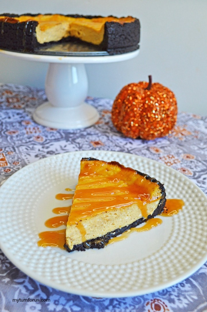 pumpkin spice cheesecake, fall cheesecake
