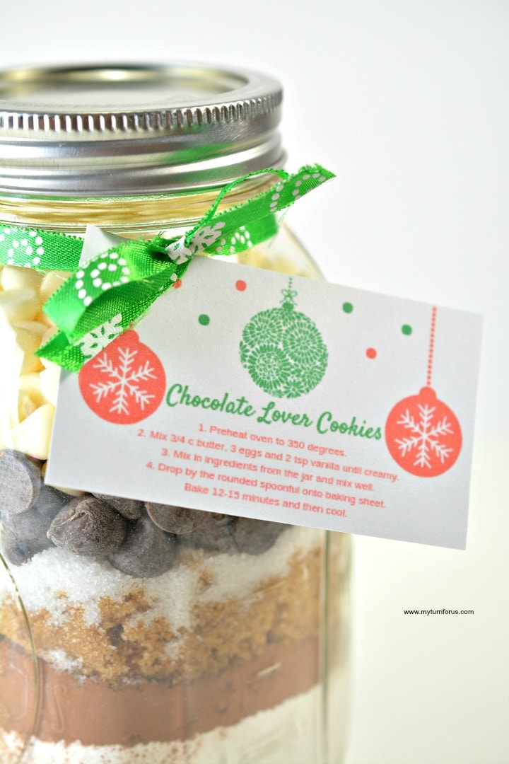 Mason Jar cookie mix recipes