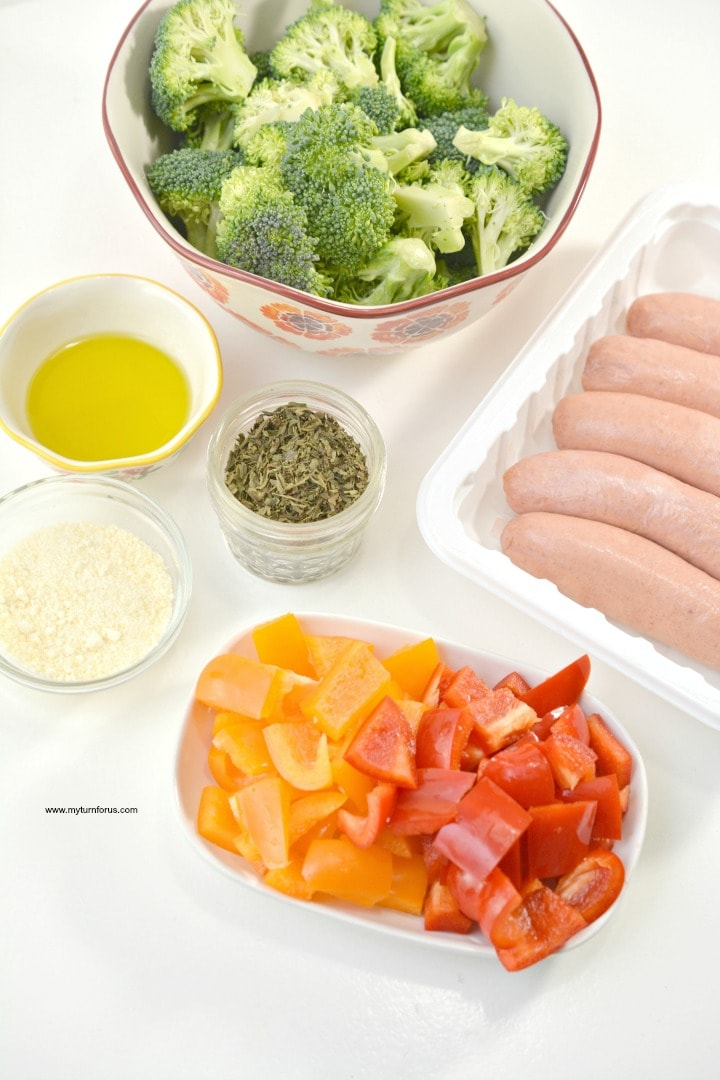 healthy baking sheets,Italian Sausage Sheet Pan Meal