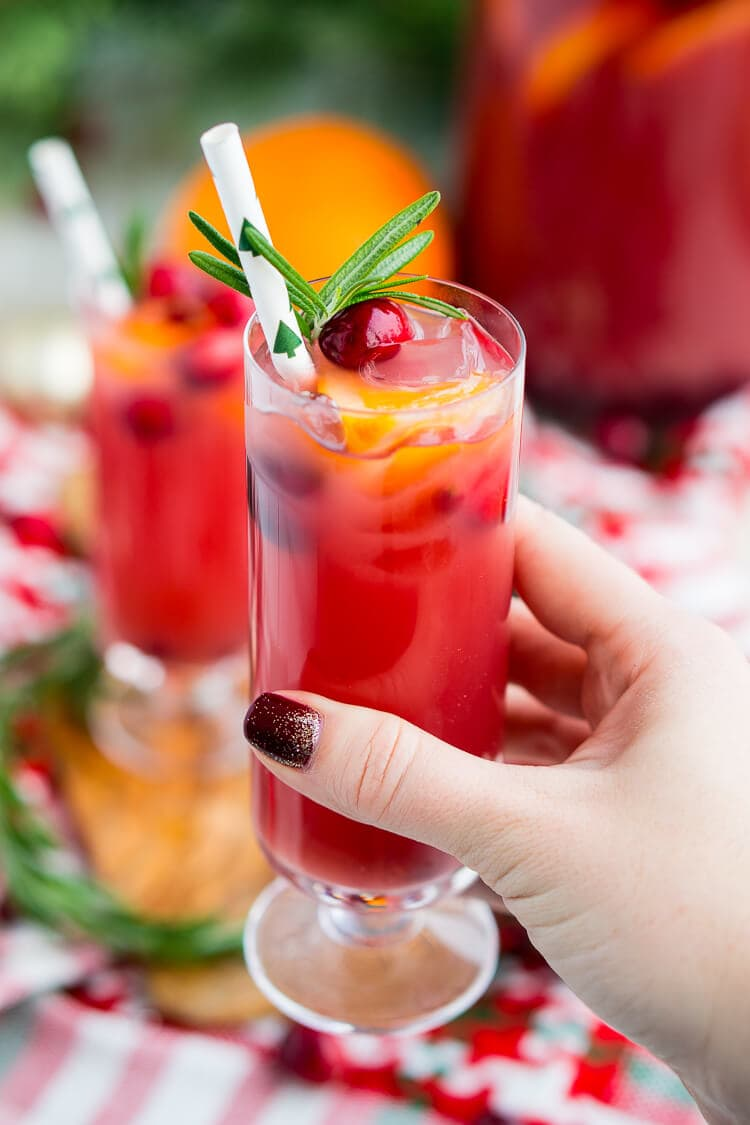 Cranberry Tail Christmas Punch