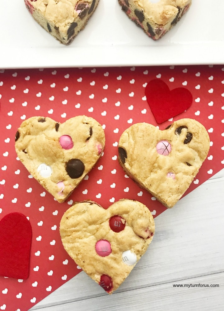 Heart chocolate chip cookies
