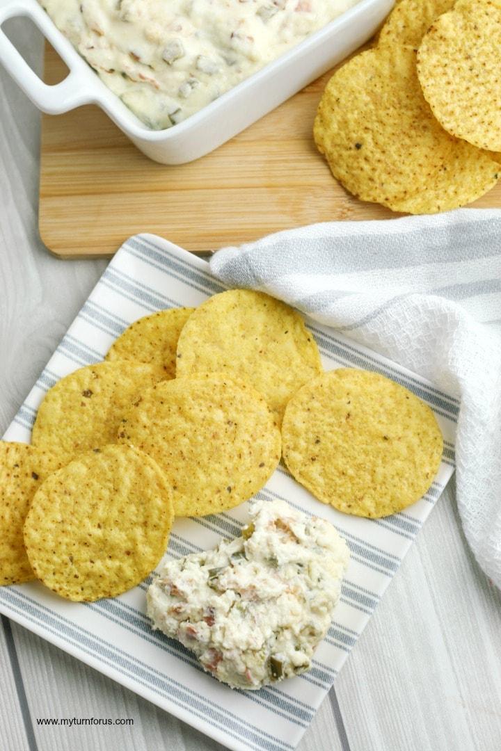 jalapeño cheese dip, cheese and jalapeño dip