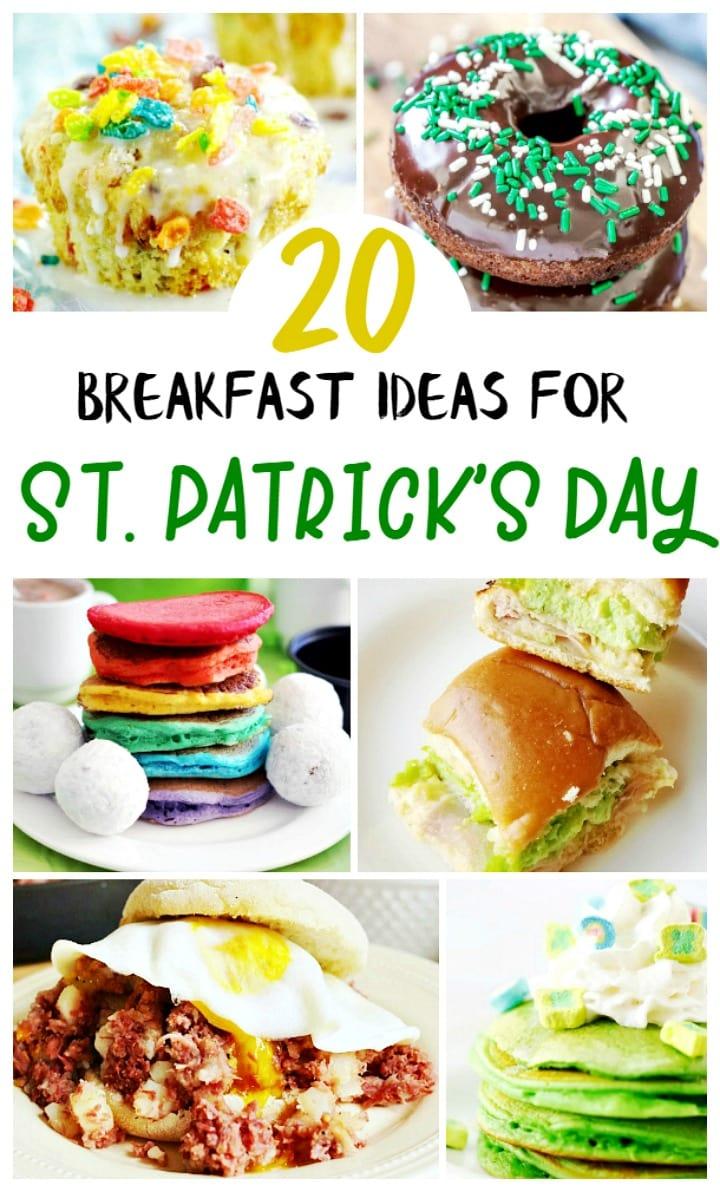 St Patrick's Day Breakfast Food Recipes, rainbow foods, green breakfast recipes, breakfast ideas for kids