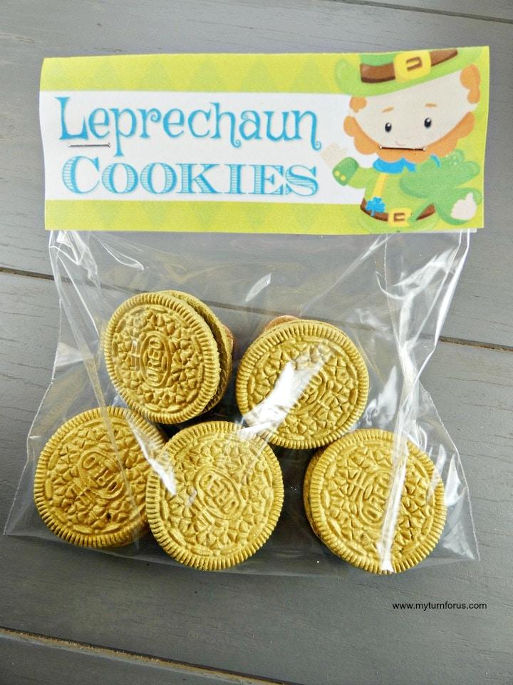 St Patrick's Day Snacks, Leprechaun cookies, St Patrick's Day Cookies, cookie bags