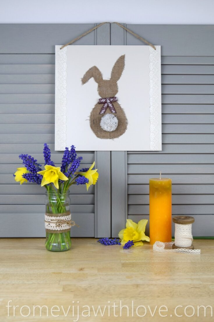 DIY Easter Bunny Hanging Sign