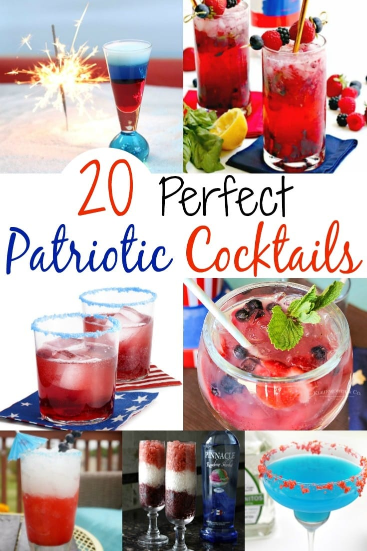 Patriotic cocktails, red white and blue layered drinks, red drinks, blue cocktails, blue mixed drinks