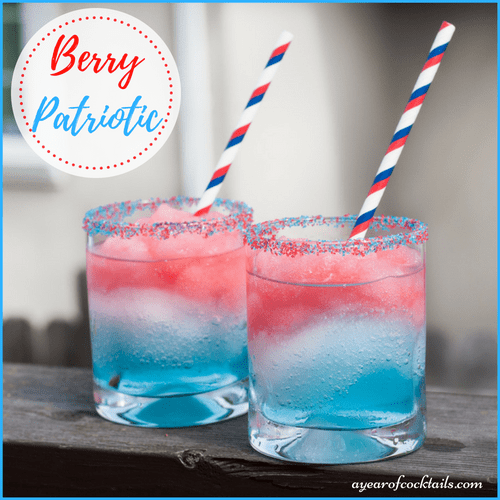 Patriotic drinks, red white and blue cocktails