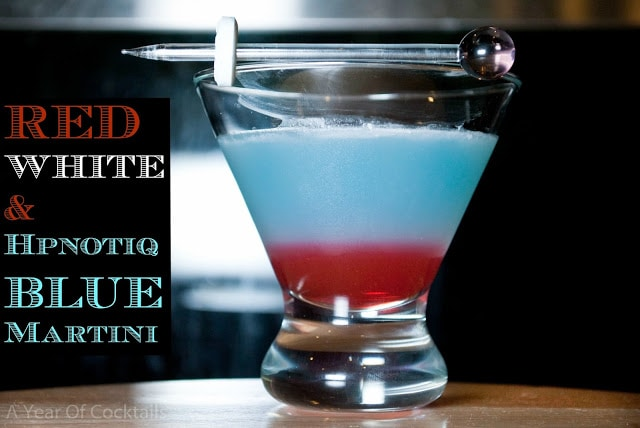 red, white and Blue layered Drinks