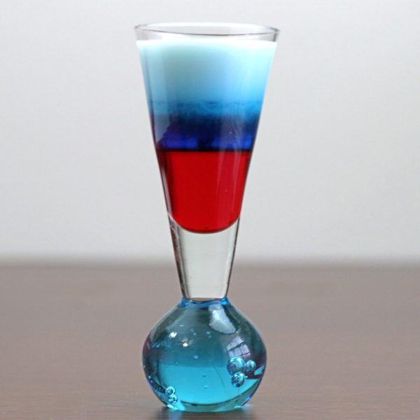 Red White Blue Layered drinks
