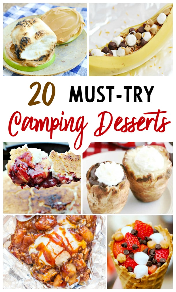 campfire desserts in foil, camping desserts, dutch oven desserts, camping checklist
