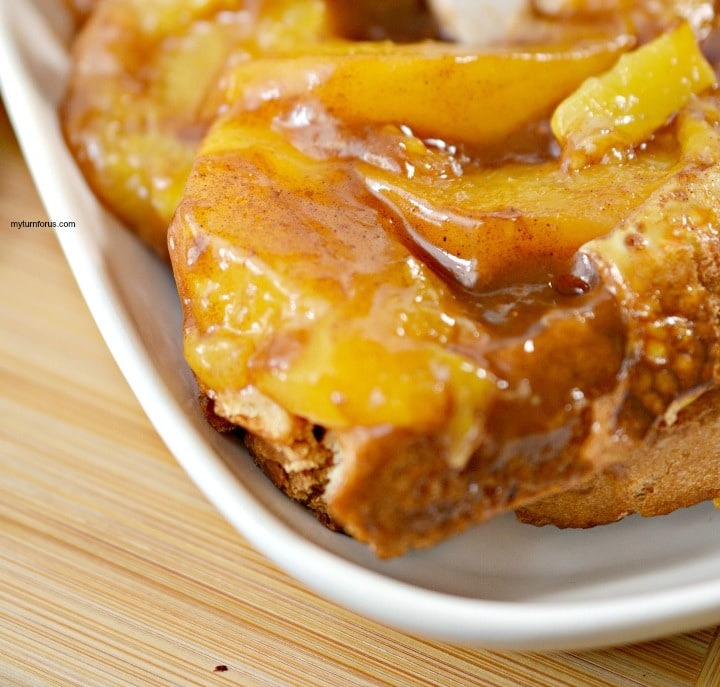 Peach Pie french toast bake, quick french toast