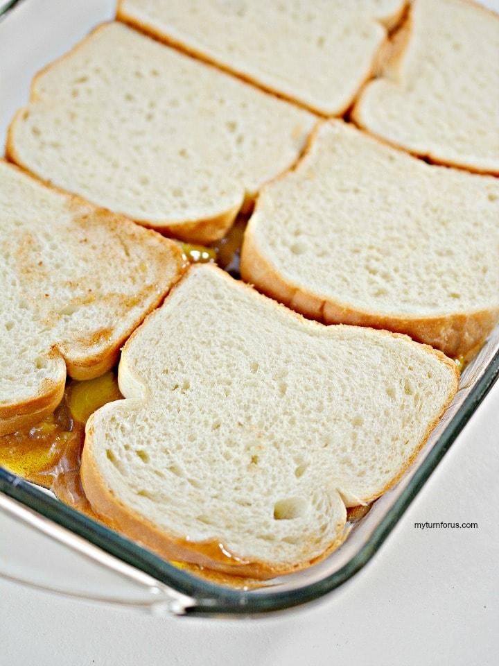peach toast, quick french toast casserole