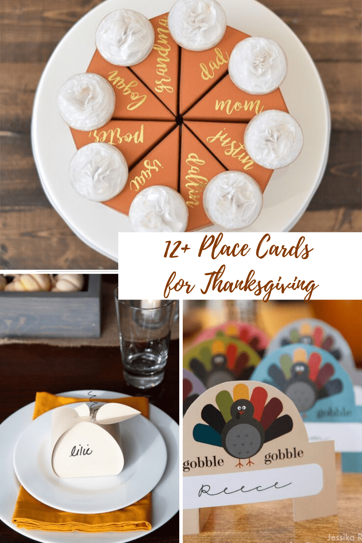 place name holders, printable Thanksgiving place cards