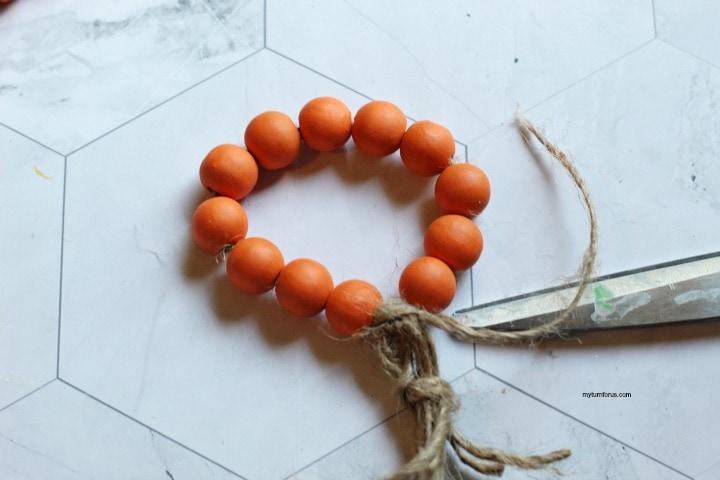 Wood Bead Napkin Ring