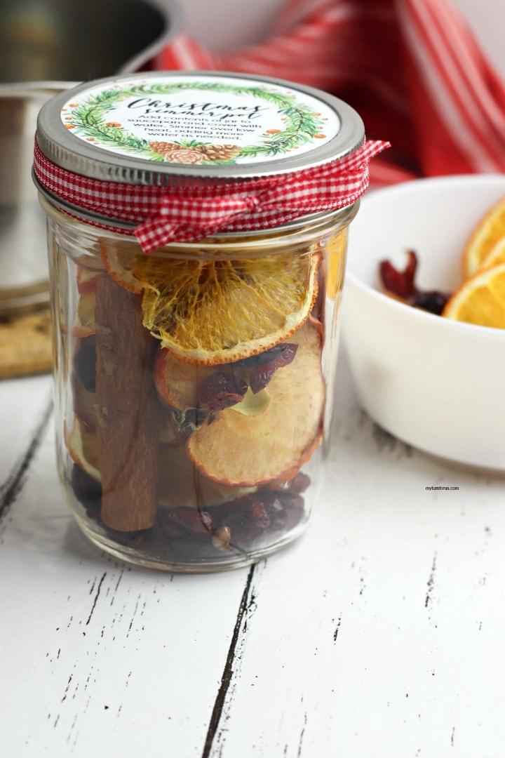 simmer pot gift in a jar, simmer pot
