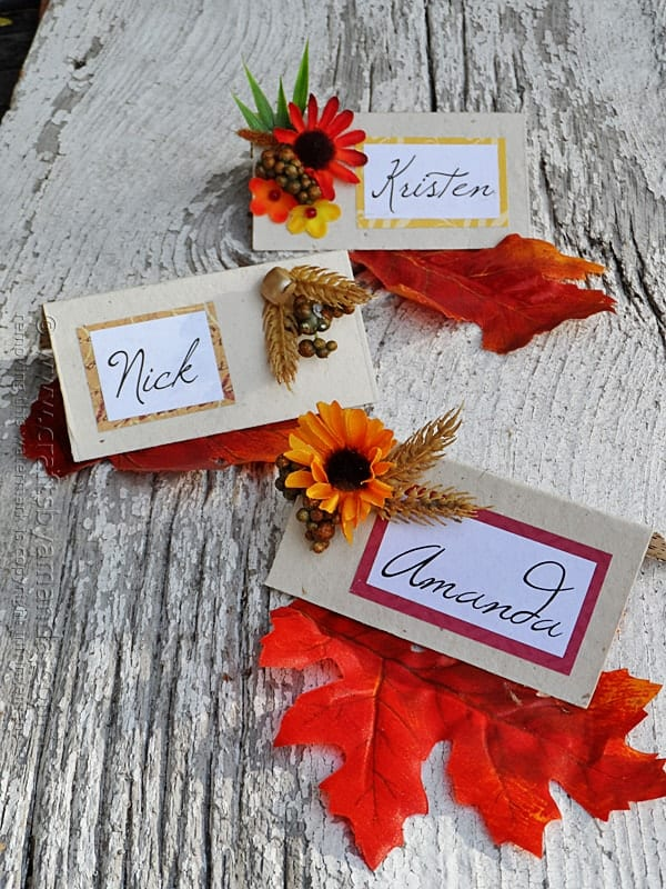 place name holders, printable place cards