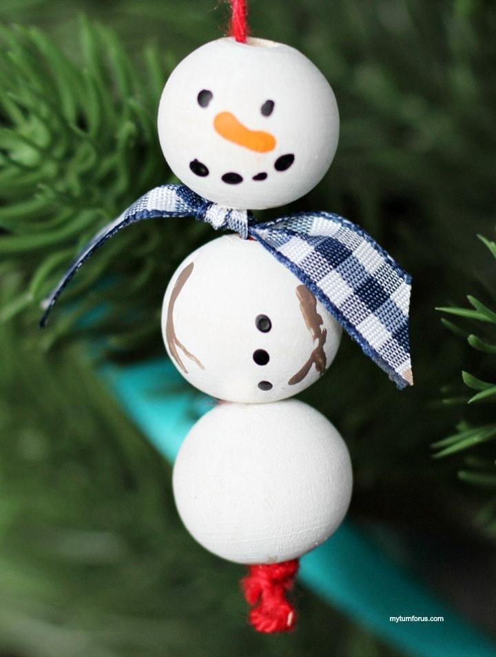 Snowman ornament craft ,wooden snowman ornament craft