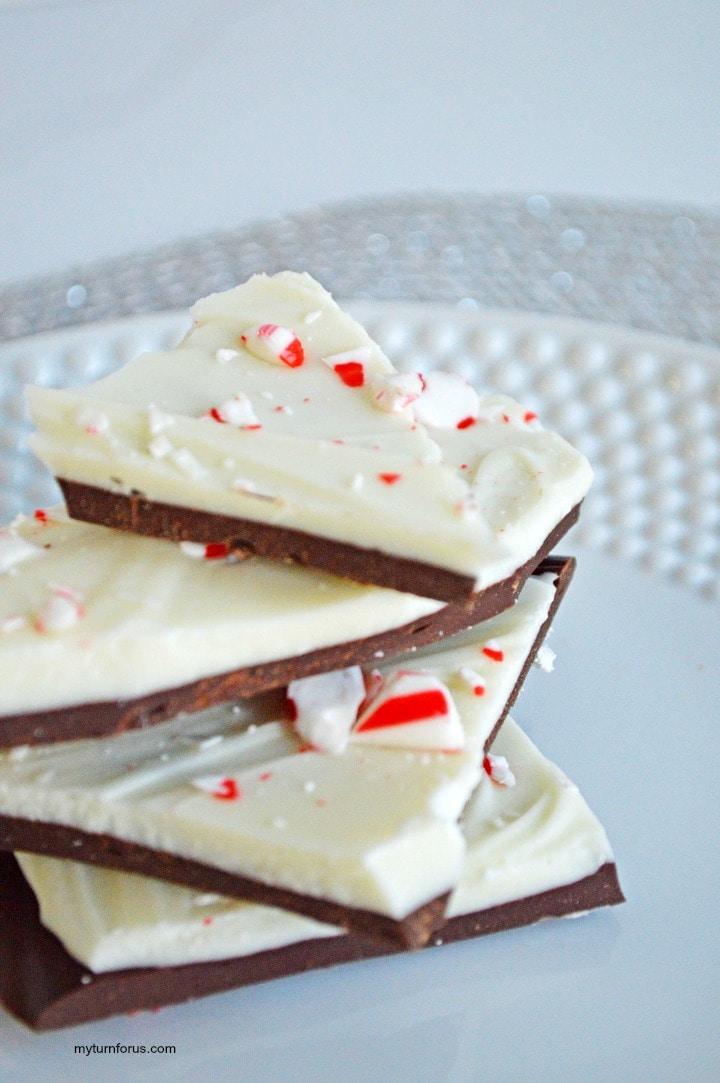 Candy Cane Bark, peppermint bark recipe microwave