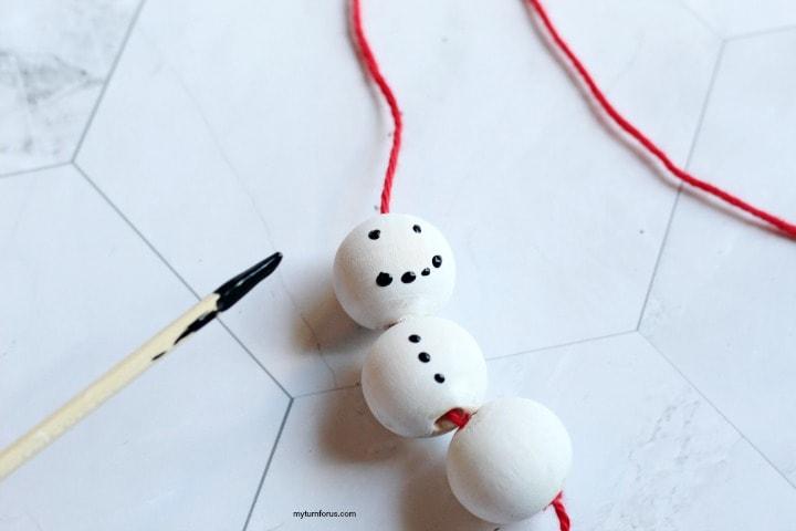 DIY snowman ornament
