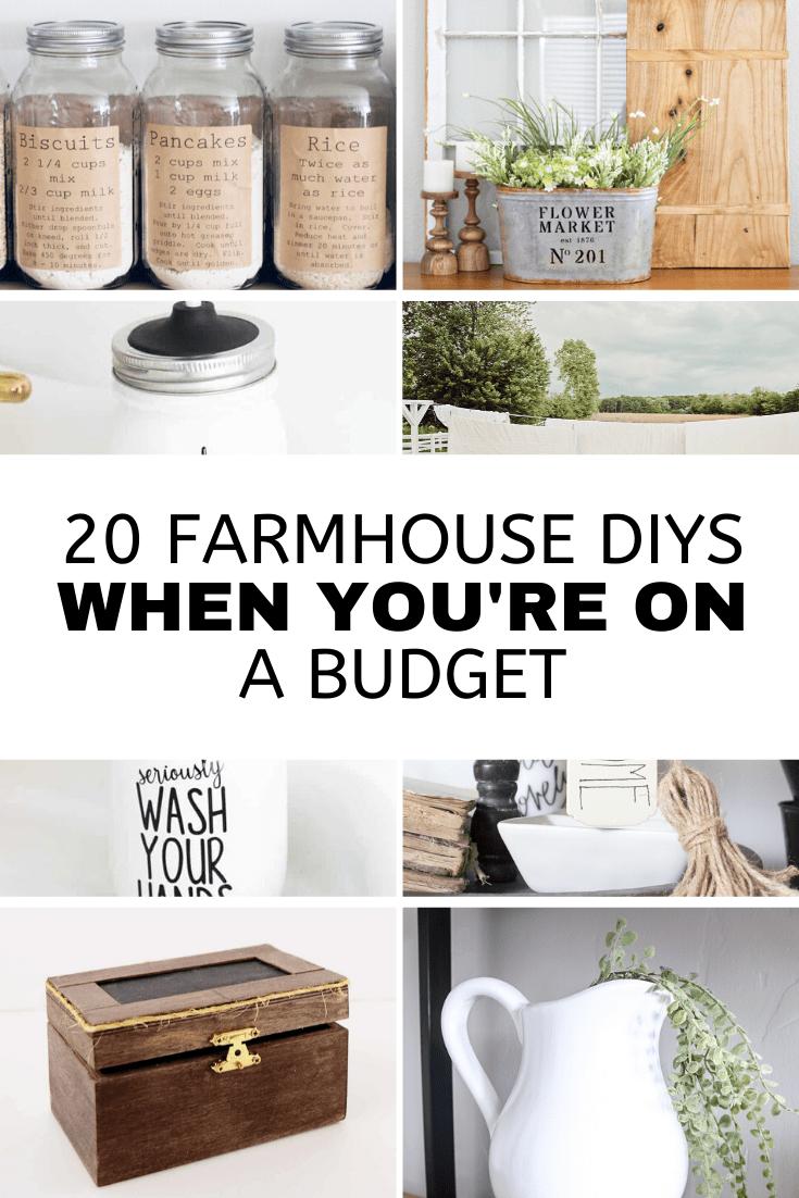 farmhouse look on a budget, farmhouse decor on a budget, vintage farmhouse decor, 20 ideas for farmhouse decor, cheap farmhouse decor