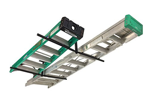 Double Ladder Ceiling Rack