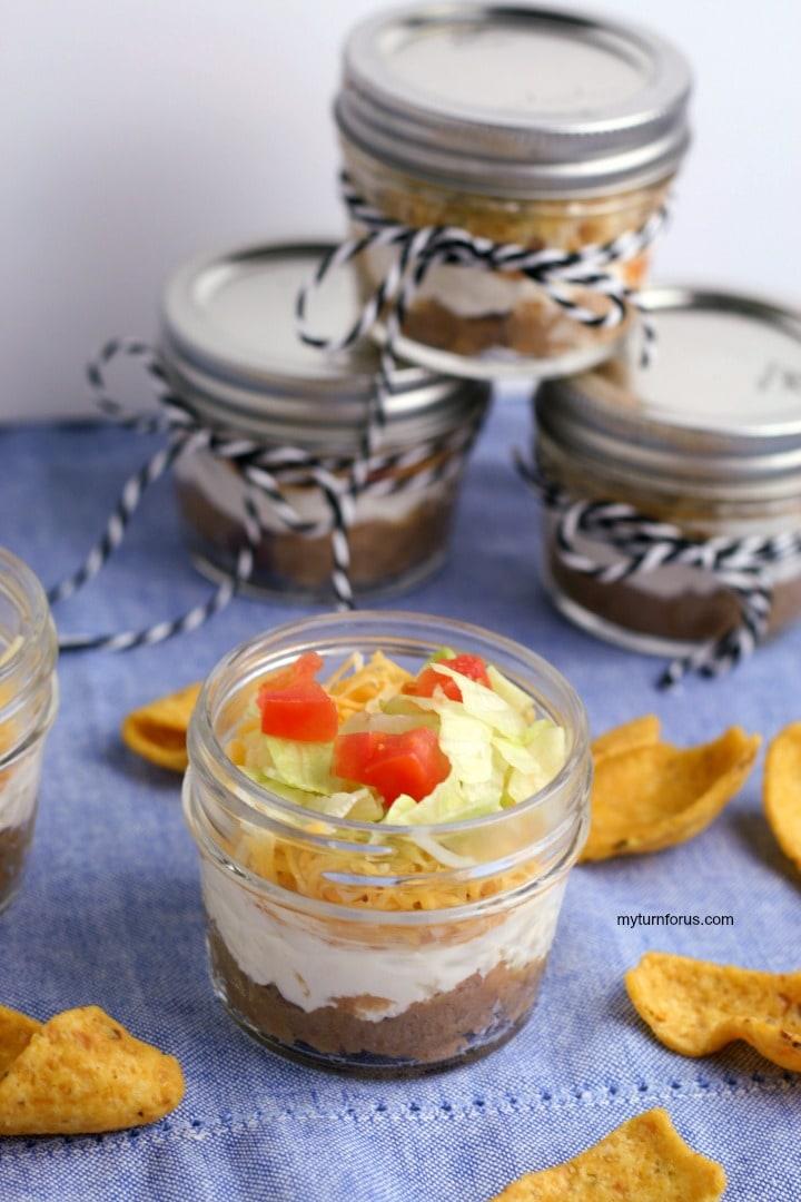 individual dip in a jar