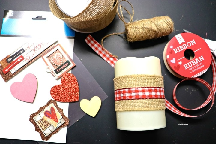 Valentine Candle Craft
