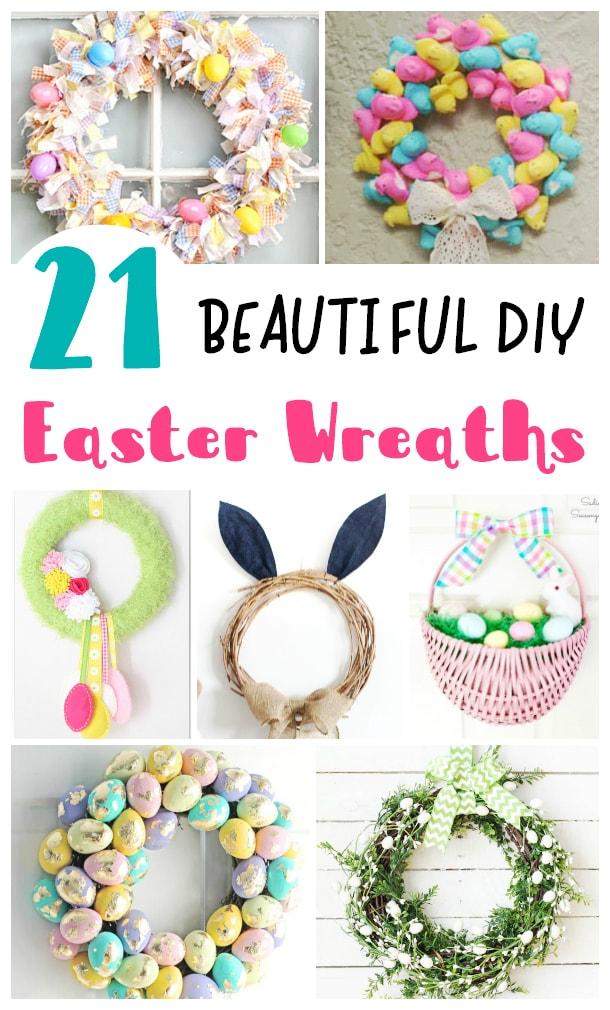 DIY Easter Wreaths, easter door decorations, outdoor easter decorations
