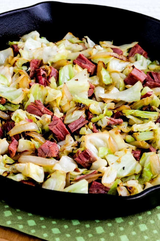 Fried Cabbage with Corned Beef