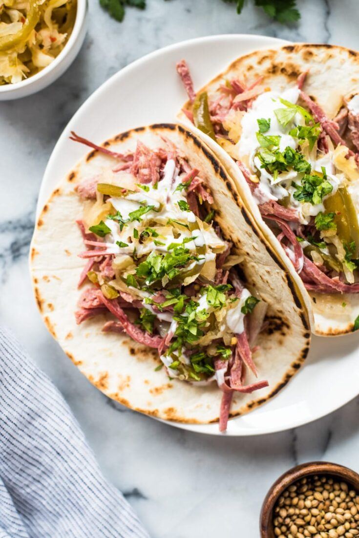 Slow Cooker Corned Beef Tacos