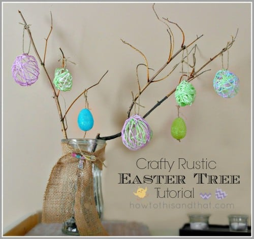 Rustic Easter Egg Tree