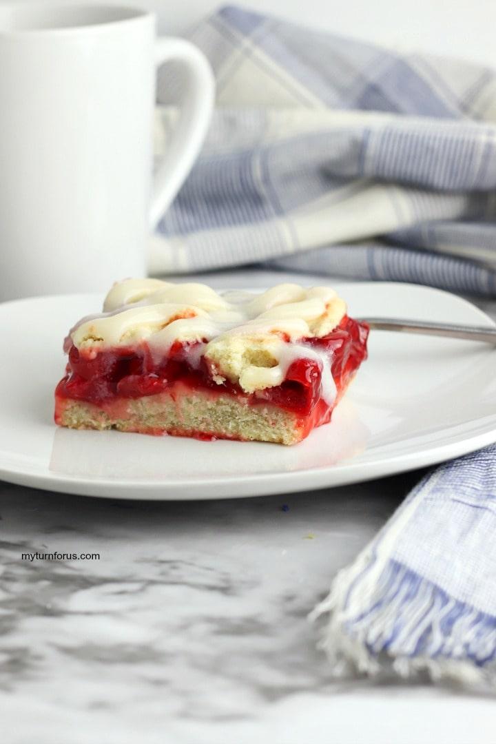 Cherry Square, cream cheese frosting, cherry square with cream cheese frosting