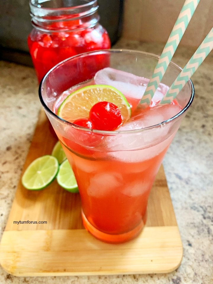 vodka cherry limeade, spiked cherry limeade