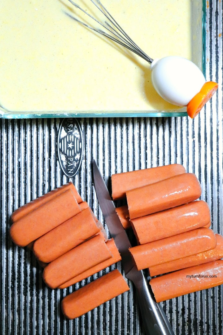 hot dogs with batter