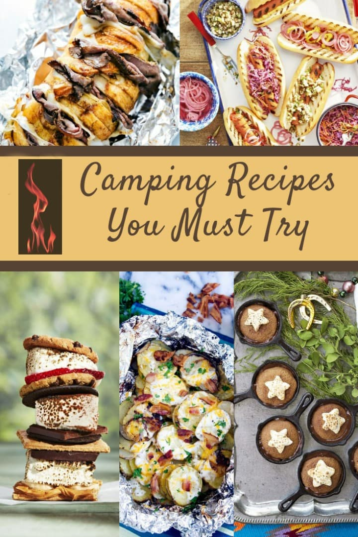 camping food ideas, recipes and things to cook over a campfire, campfire cooking
