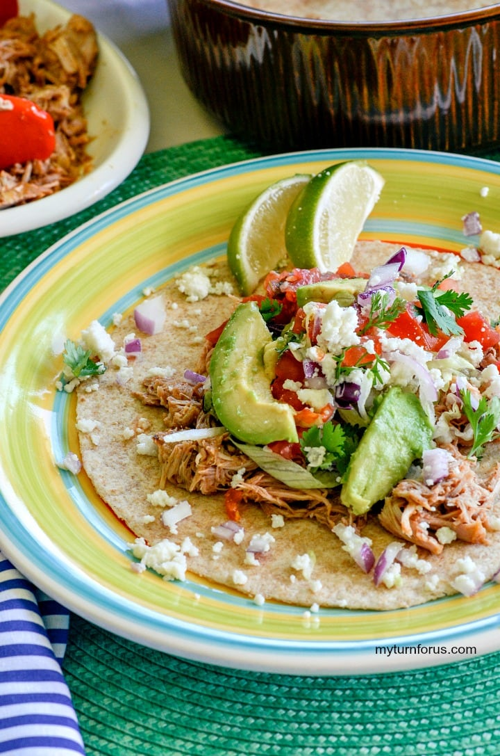 spicy pork tacos with pulled taco seasonings