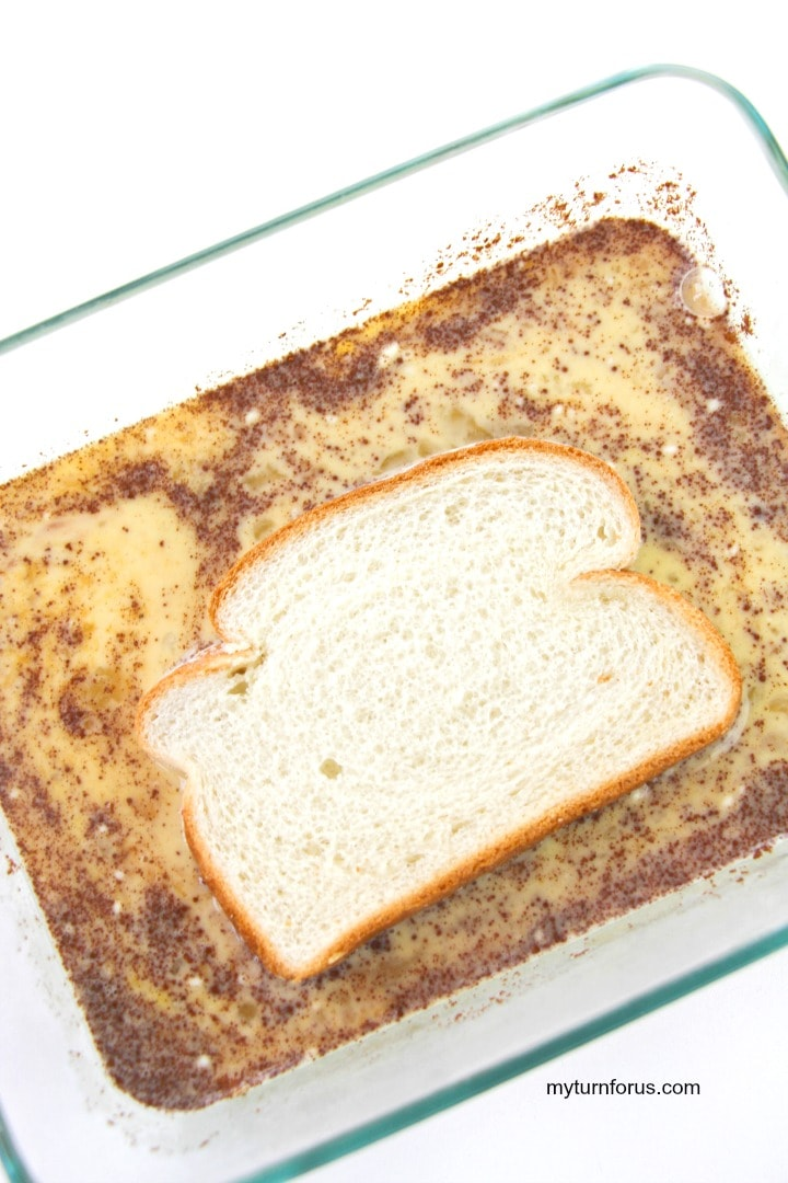 bread in french toast batter