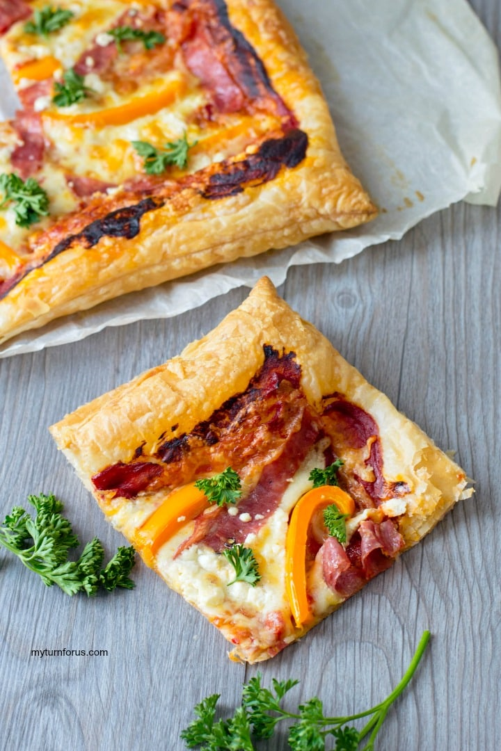 pastry puff pizza