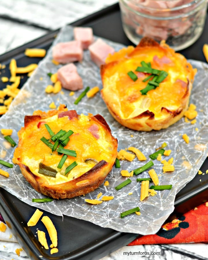 Wonton Eggs cups, Denver omelet recipe