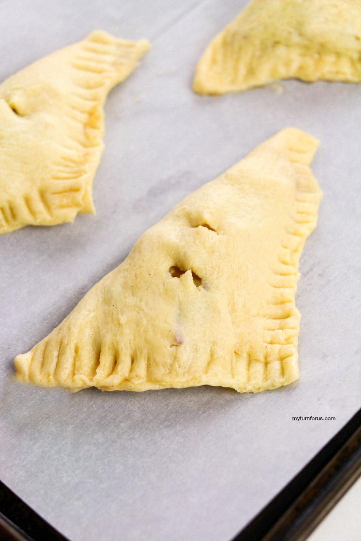 Apple hand pies ready for oven