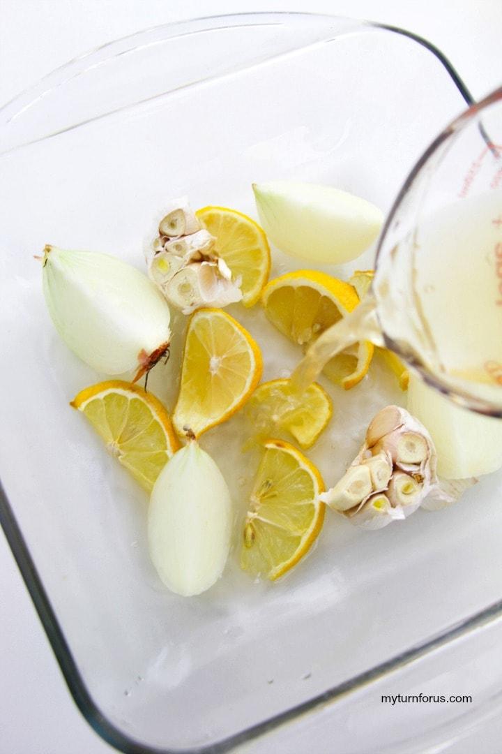 lemon, garlic and onion as base