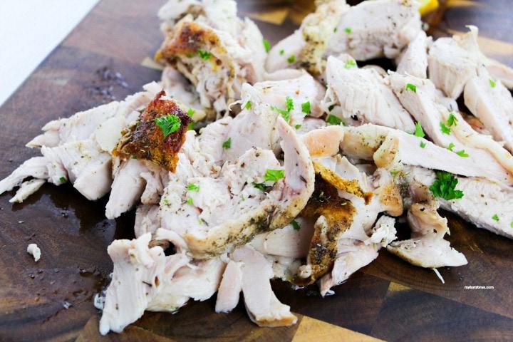 Half turkey breast roasted and sliced