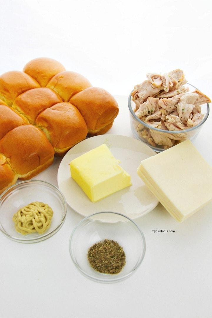 Turkey and Swiss Sliders Ingredients