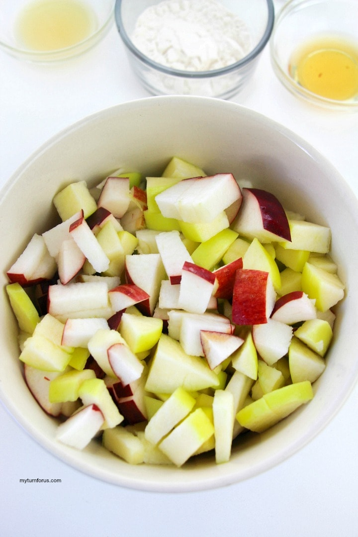 chopped Apples for turnovers