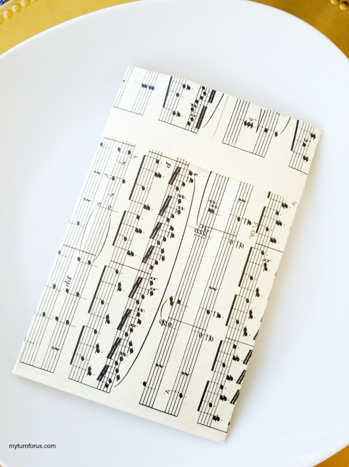 vintage inspired sheet music pouches