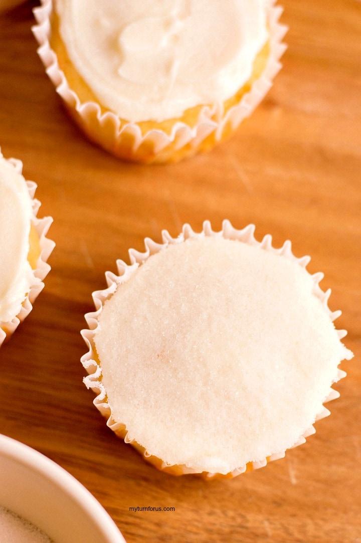 Sparkling sugar cupcakes