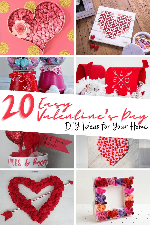 DIY valentines home decor including farmhouse valentines decor, valentines day wall decor and other valentines wreath diy ideas.